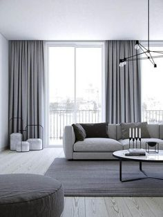 Creative ways beautiful classy living room design and decor ideas 18 – fugar Home Curtains, Curtains Living Room, Living Room Decor Curtains, Curtains Living, Living Room Modern, Blue Bedroom Decor, Classy Living Room, Living Room Grey, Living Decor