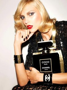 Anja Rubik in Chanel for Vogue Paris, November 2012. Photographed by Terry Richardson.