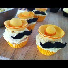 Mexican mustache sombrero cupcakes.