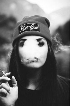 Smoke Art.  #smoke #girl #swag