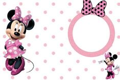 Cute Minnie Mouse invitation template | Invitations Online