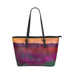 Oil of flowers 4 Leather Tote Bag/Large (Model 1651)