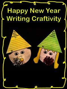 New Year Writing Craftivity from FunTeach on TeachersNotebook.com -  (5 pages)  - Decorate your bulletin board for the new year with this cute writing craftivity.