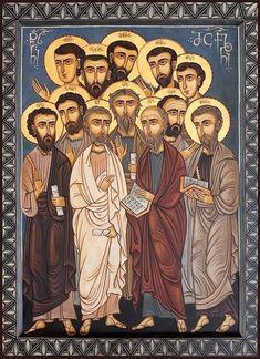 The Twelve Apostles Icon Religious Images, Religious Icons, Religious Art, Byzantine Art, Byzantine Icons, Religion, Greek Icons, Russian Icons, Biblical Art