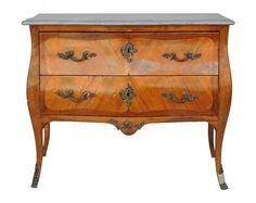 commode sauteuse d'époque XVIIIème de style Louis XV en placage de bois de rose  [3800,00€]