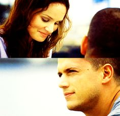 Michael and Sara. Prison Break 3, Sara Tancredi, Michael And Sara, Broken Pictures, Dominic Purcell, Sarah Wayne Callies, Michael Scofield, Celebrity Photography, Wentworth Miller