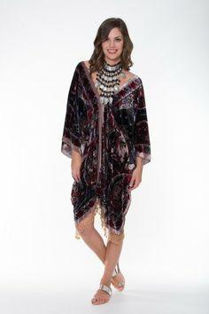 Boho Silk Collection – Buddah Design Kaftan Ladli Australia  Silk Velvet.