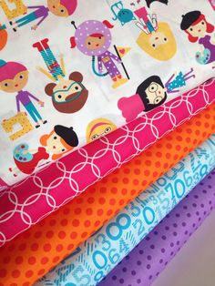 Girlfriends Girl Power fabric bundle by Ann Kelle for Robert Kaufman and Fabric Shoppe - Fat quarter bundle, 5 total by fabricshoppe on Etsy