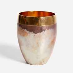 Beautiful handmade tumbler, made of copper / by Munich based jeweler and master craftsman Klaus Lohmeyer