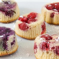 Cherry Cupcakes: Make this recipe with fresh cherries or Comstock or Wilderness Cherry Fruit Filling. Both taste great!