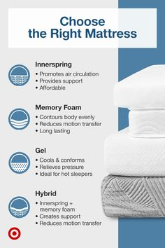 Find bedding ideas, bedroom tips and a variety of mattresses to choose from for relaxing nighttime routines.