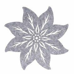 Pöytätabletti Joulutähti 35 cm huopaa harmaa Leaf Tattoos, Logos, Logo, A Logo