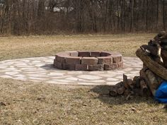 A firepit made for roasting marshmellows and hot dogs while sitting in camp chairs! Camp Chairs, Hot Dogs, Landscape, Outdoor Decor, Projects, Courtyards, Log Projects, Scenery, Blue Prints