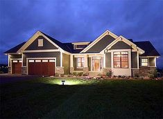 This plan w/Hip roof, for loft. Plan W14308RK: Craftsman, Photo Gallery, Sloping Lot, Northwest House Plans & Home Designs
