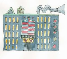 """""""Willy Wonka's Chocolate Factory"""" by Quentin Blake from Roald Dahl's """"Charlie and the Chocolate Factory"""""""