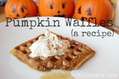 Live these...I make a double batch on Sundays, flash freeze them and voila, homemade frozen wafgles for the week.  And what an awesome smell on a fall mornong. Best Pumpkin Waffle Recipe