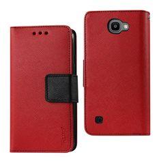 REIKO LG SPREE 3-IN-1 WALLET CASE IN RED