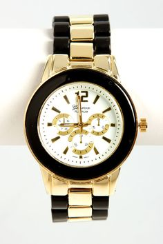 Gold and Black Watch #menswearinspired