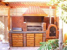 Built In Braai, Barbecue Design, Casa Loft, Backyard Renovations, Wood Fired Oven, Outdoor Living, Outdoor Decor, Bbq Grill, Home Deco