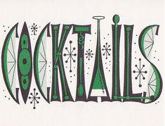 Cosmic Cocktails Party Invitation 1950s by hmdavid, via Flickr