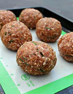 Smoky and Spicy Scotch Eggs  www.PrimallyInspired  use turkey organic or chicken sausage!