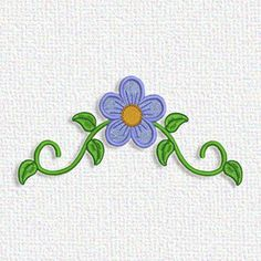 Here's a flower embroidery design that you can download from Adorable Applique right now.  It's free!