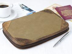 Canvas Travel Document Holder