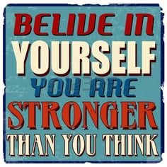 Belive in yourself you are stronger than you think, vintage grunge poster, vector illustrator photo
