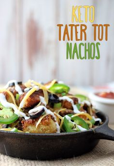 #Keto Tater Tot Nachos, or Totchos, are an up and coming delicious food that you have to try! Shared via http://www.ruled.me/
