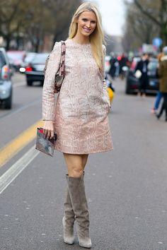 Street style at Fashion Week.