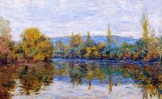 1878,Claude Monet, Small arm of the Seine near Vetheuil