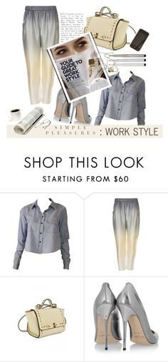 """""""Senza titolo #754"""" by francescar ❤ liked on Polyvore featuring Jimmy Choo, Faber-Castell, STELLA McCARTNEY and Work"""