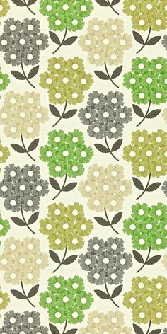 wallstore.se - Midbec - Orla Kiely Rhododendron 110413 - tapeter, tapet