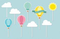 Balão - Kit Toppers Tags Personalizado