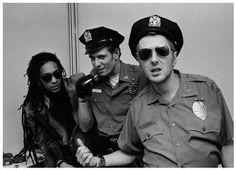 Don Letts, Paul Simonon, and Joe Strummer