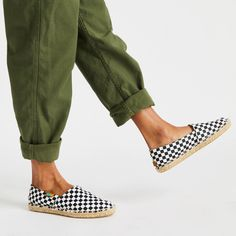 Black / White Checkered Afridrilles Everyday Shoes, Light Turquoise, Summer Essentials, Army Green, Warm Weather, Designer Shoes, Cute Dresses, Espadrilles, Pairs