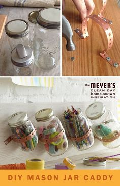 DIY Mason Jar Storage craft storage crafts organization organizing mason jar crafts diy diy crafts