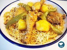 Recette facile de spaghettis au poulet / Cuisine tunisienne - YouTube