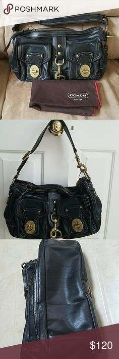 Coach Legacy Limited Edition Bag Pre-loved Coach Legacy bag still have lots of life left.  Some scuffs around the outside leather.  Inside I great condition. Coach Bags Shoulder Bags