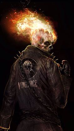 Ghost Rider (né Johnny Blaze) by Jeremiah J. Comic Book Characters, Marvel Characters, Comic Character, Comic Books Art, Comic Art, Ghost Rider Film, Ghost Rider Marvel, Marvel Vs, Marvel Dc Comics