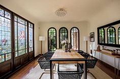 Stained glass and ornate lighting fixtures add character for days. #refinery29 http://www.refinery29.com/2015/07/91268/sia-furler-los-feliz-home-pictures#slide-8