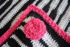 I love this Zebra crochet baby blanket!  Zebra Newborn Blanket - Crochet Me