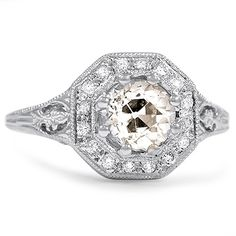 The Phalen Ring from Brilliant Earth. 1920's Art Deco Engagement ring!