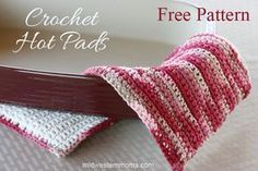 Great crochet pattern for Hot Pads or Pot Holders. Easy Free Patterns that is perfect for Beginners.