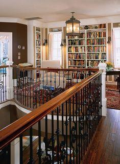 I love the idea of this landing reading nook - Southern Living Idea House, Charleston. Casa Loft, Southern Living Homes, Home Libraries, House Goals, Design Case, Design Design, My Dream Home, Future House, Beautiful Homes