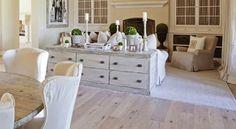 Living/Dining - lovely sideboard as room divider