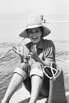 Sophia Loren in Saint Tropez, 1950