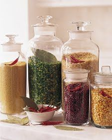 Martha says that you can protect your grains from unwanted visitors by adding dried chilies or bay leaf to your jars.
