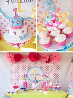 Pinwheels and Polka Dots 1st Birthday Party with Full of Adorable Ideas #LittleGirl #Party