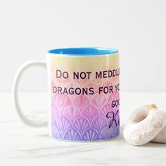 Deco Scallops Don't Meddle In Affairs Of Dragons Two-Tone Coffee Mug - home gifts cool custom diy cyo